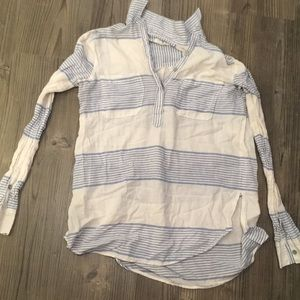 LOFT Lou & Grey striped shirt size XXS